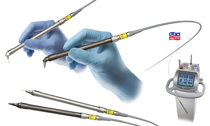 LightScalpel laser fiber, autoclavable handpieces, and laser console
