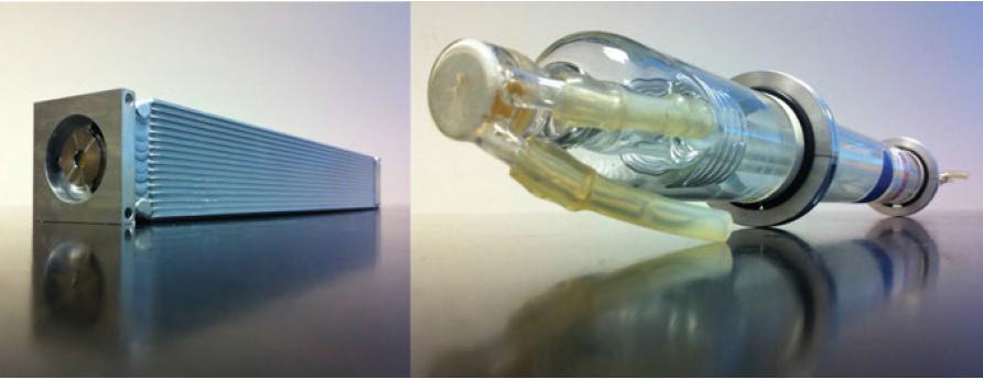 LightScalpel laser tube vs imported antiquated glass tube CO2 laser tube