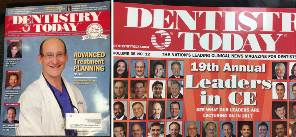 Richard Winter on cover of Dentistry Today