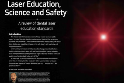 Laser Education, Science and Safety – A review of dental laser education standards