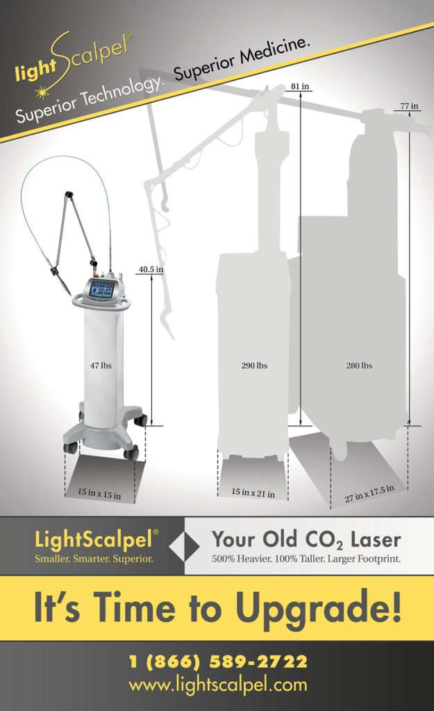LightScalpel and Older, Larger Surgical CO2 Laser Systems