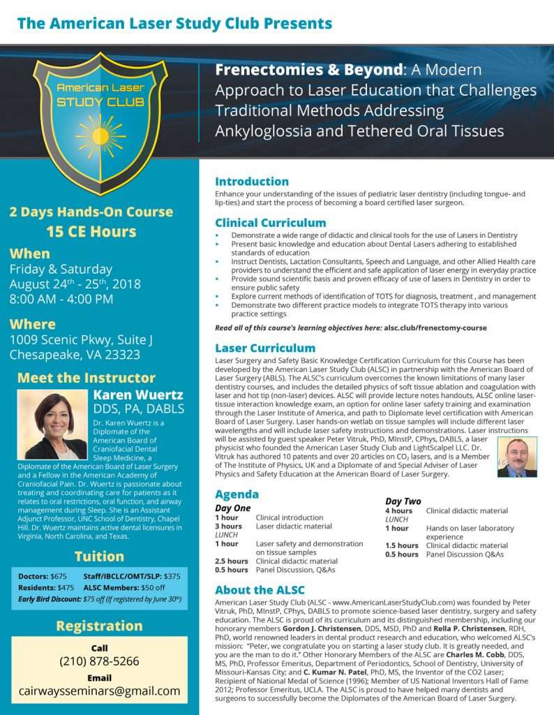 Frenectomies & Beyond: A Modern Approach to Laser Education that Challenges Traditional Methods Addressing Ankyloglossia and Tethered Oral Tissues