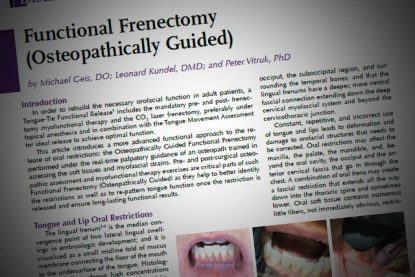 Functional Frenectomy (Osteopathically Guided)