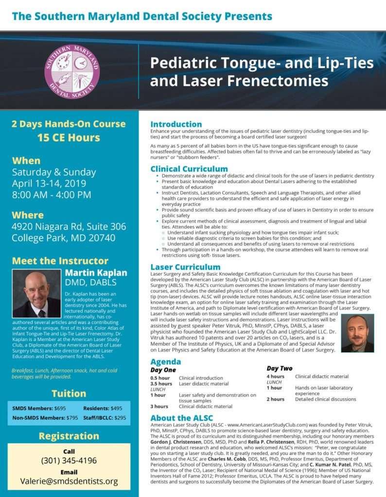 Martin Kaplan event - Laser Frenectomies
