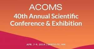 ACOMS 2019 conference