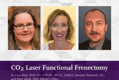 New Article – CO<sub>2</sub> Laser Functional Frenectomy
