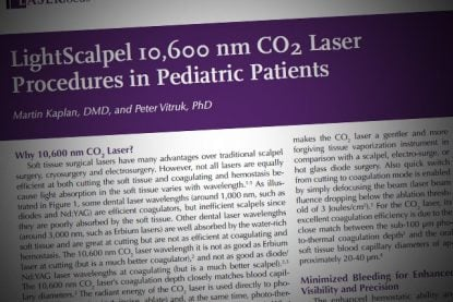LightScalpel 10,600 nm CO<sub>2</sub> Laser Procedures in Pediatric Patients